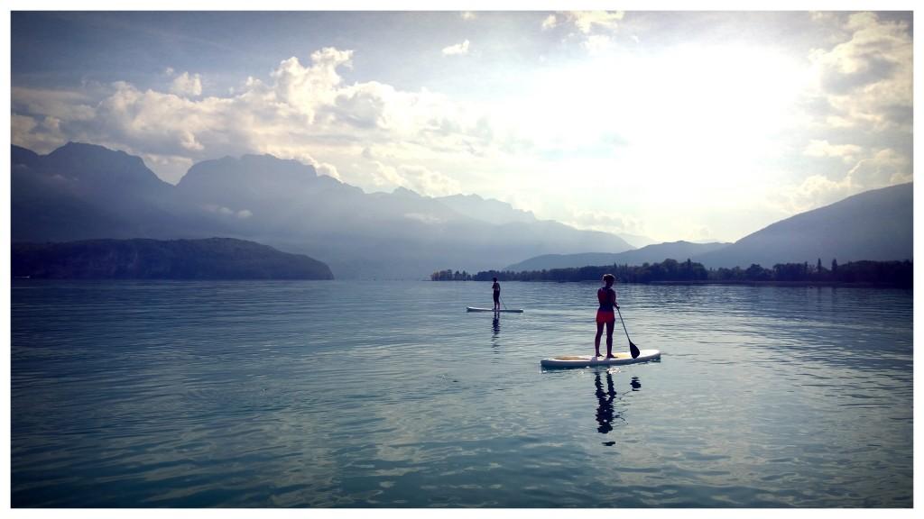 Traversée du lac en stand up paddle