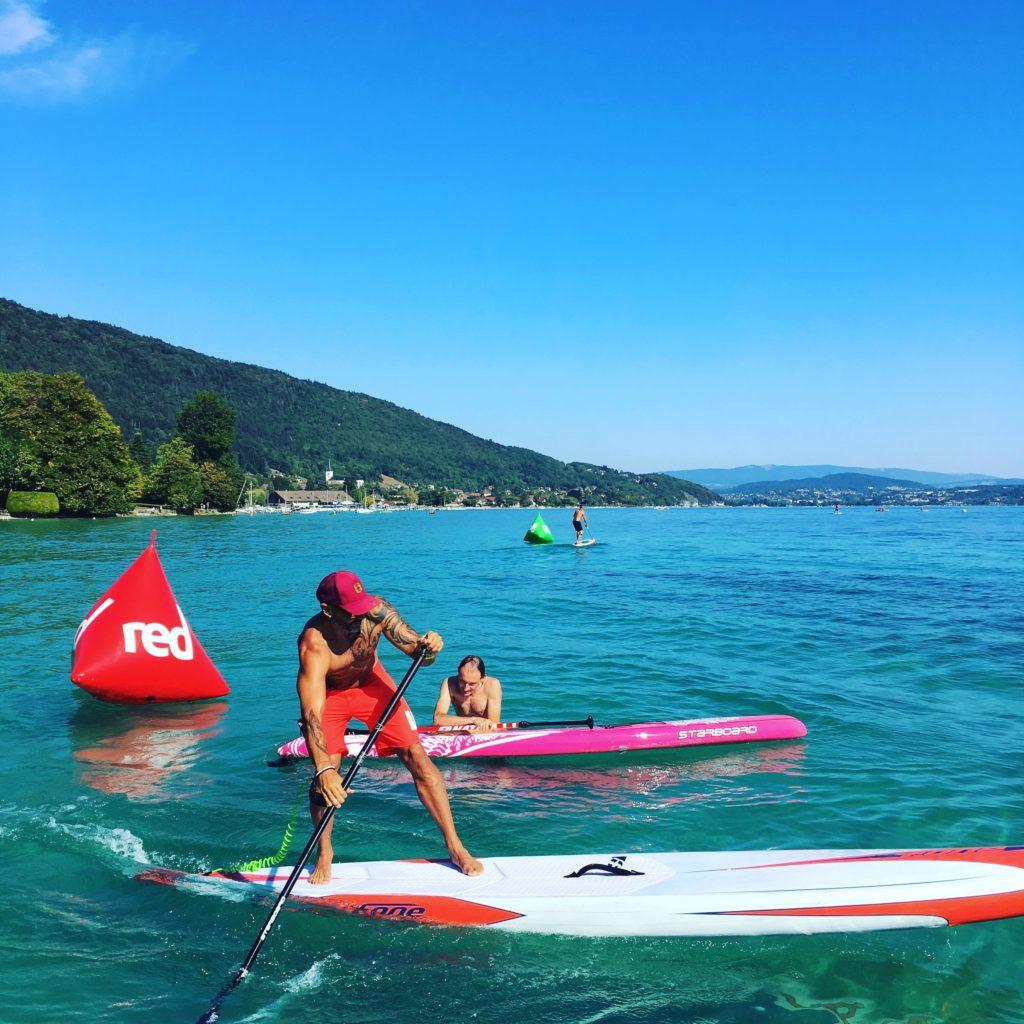 entrainement paddle lac d'Annecy