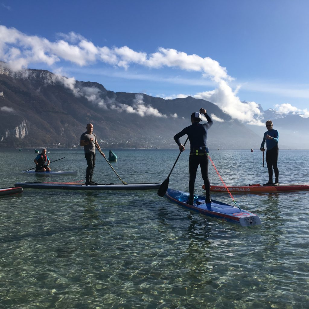 entrainement annecy stand up paddle club
