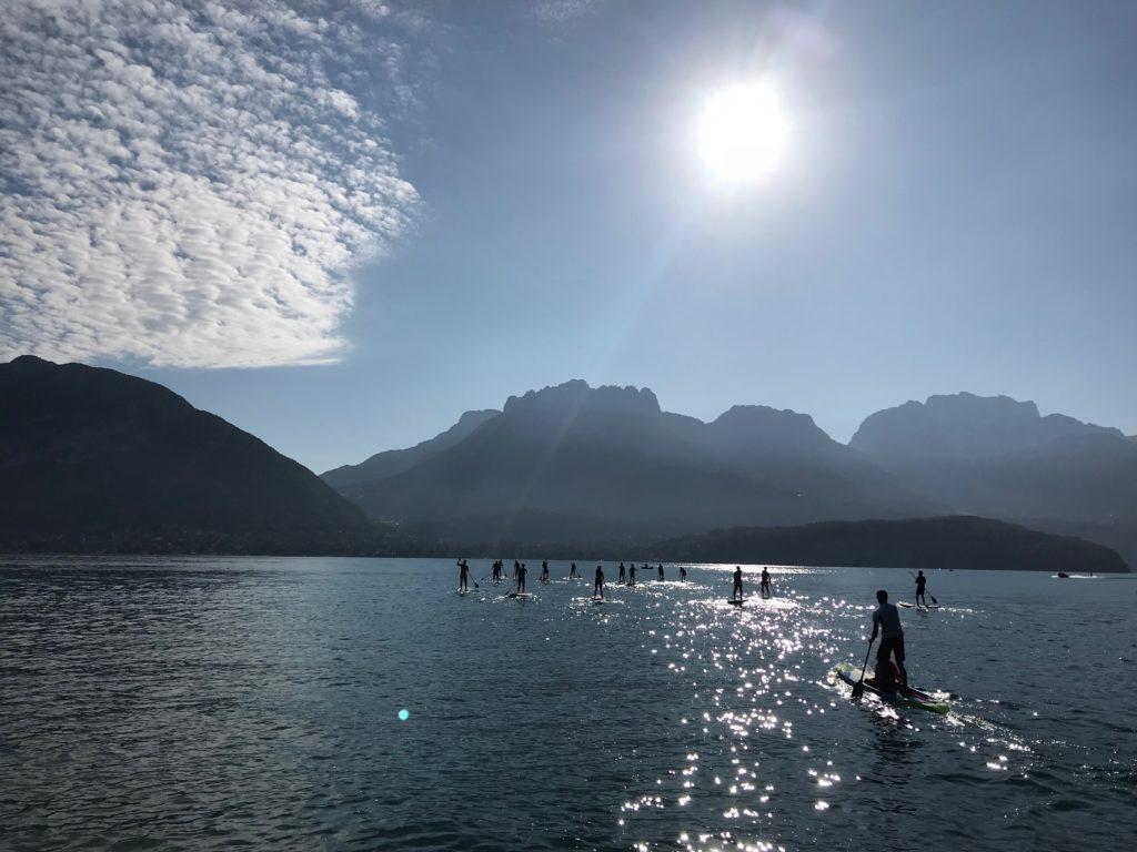 traversée du lac
