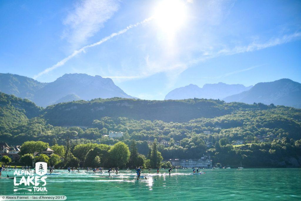 lac annecy en paddle / pop & fat race lac d'annecy